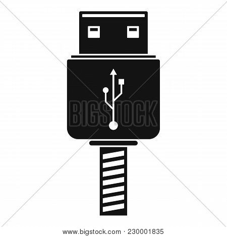 Memory Flash Drive Icon. Simple Illustration Of Memory Flash Drive Vector Icon For Web