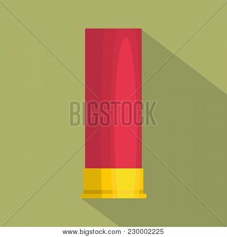 Large Cartridge Icon. Flat Illustration Of Large Cartridge Vector Icon For Web