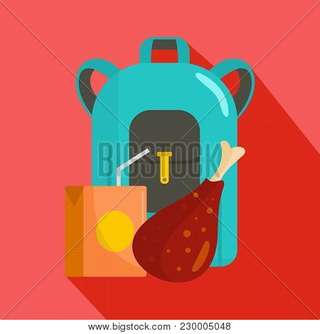 Pupil Lunch Icon. Flat Illustration Of Pupil Lunch Vector Icon For Web