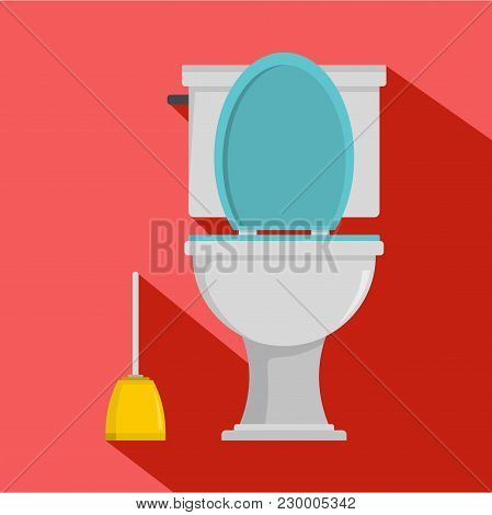 Comfort Toilet Icon. Flat Illustration Of Comfort Toilet Vector Icon For Web