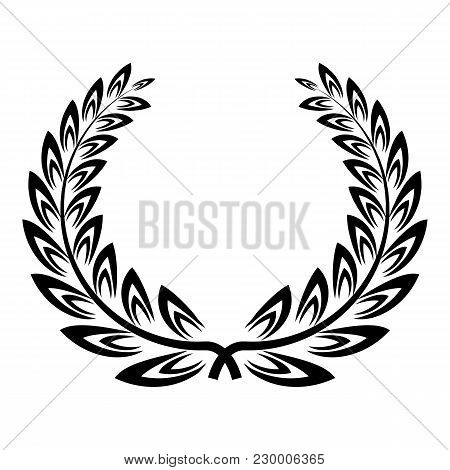Certified Wreath Icon. Simple Illustration Of Certified Wreath Vector Icon For Web