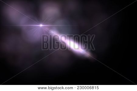 Abstract Digital Lens Flare In Black Background.modern Abstract Beautiful Rays Light Streak Backgrou