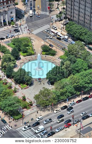 Philadelphia, Usa - June 11, 2013: Aerial View Of Philadelphia. As Of 2012 Philadelphia Is The 5th M