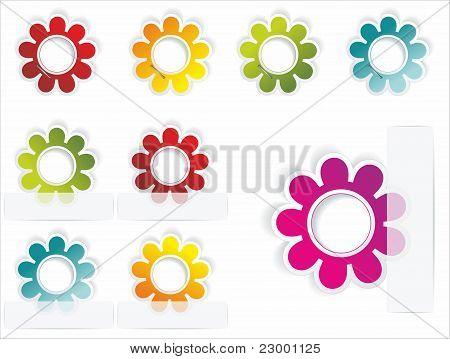 Multi-colored realistic stickers
