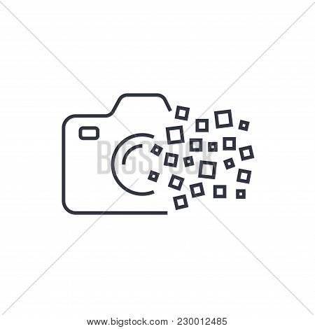 Camera Photography Logo Icon Template. Digital Camera Concept. Eps 10