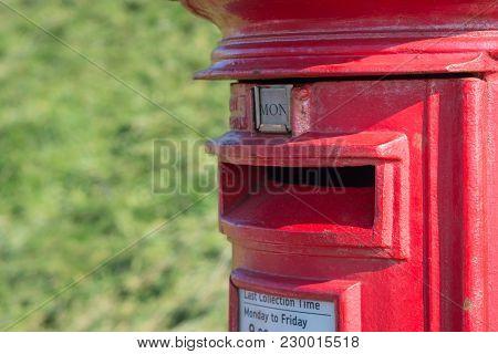 Red Royal Main Postbox Close Up Image