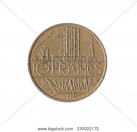 Vintage Ten Francs Coin Made By France 1977