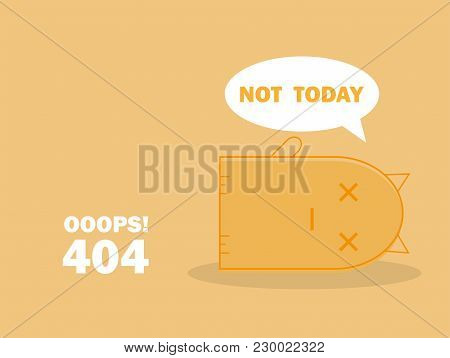 404 Error Page With Cute Cat Sleeping And Message Oops Page Not Found. Search Problem Alert Template