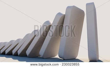 Domino Effect In Action(3D Rendering)