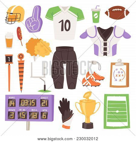 Rugby Vector Rugger Sportswear And Ball For Competition On Stadium Illustration Set Of Sportsman Clo