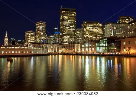 San Francisco Waterfront. The Embarcadero, San Francisco, California, Usa.