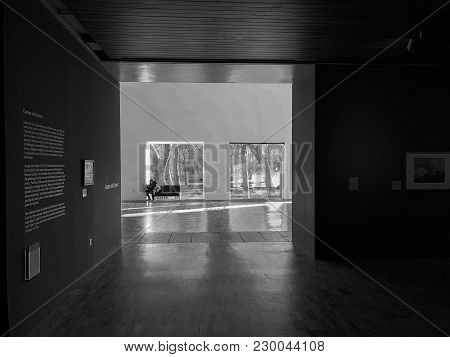 Manchester, United Kingdom - February 9, 2018: Interiors Of The Whitworth Art Gallery In Manchester