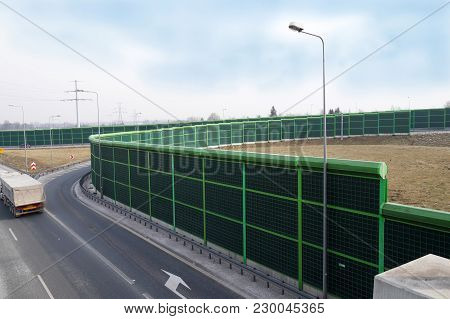 A Noise Barrier (also Called A Soundwall, Noise Wall, Sound Berm, Sound Barrier, Or Acoustical Barri
