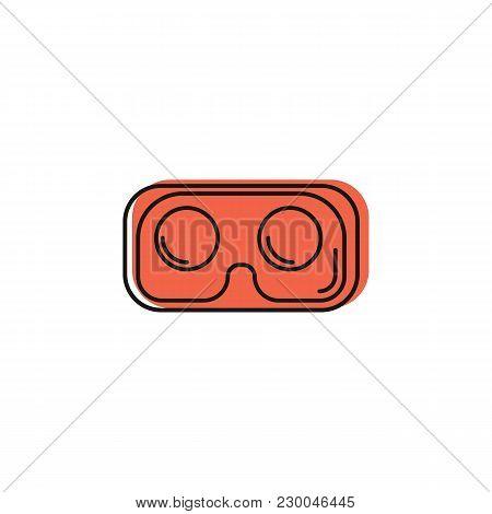 Virtual Reality Glasses Icon. Doodle Illustration Of Virtual Reality Glasses For Smartphone Vector I