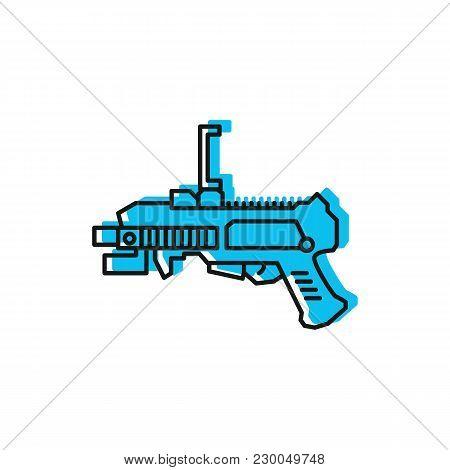 Virtual Reality Gun Icon. Doodle Illustration Of Virtual Reality Gun Vector Icon For Web And Adverti