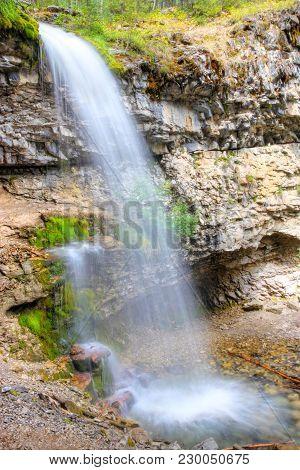 Troll Falls In The Kananaskis Country Of Alberta, Canada