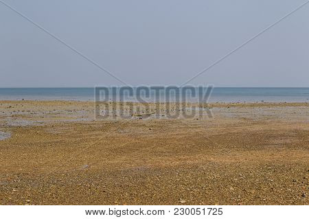 Coast After Low Tide, Ocean And Horizon, Railay Peninsula, Krabi, Thailand