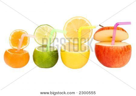 Colorful Abstract Fruit Drink