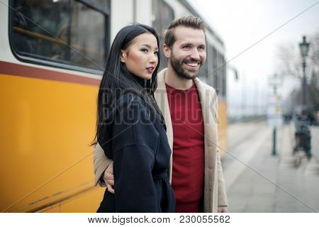 Couple hanging out