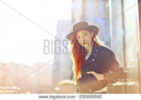 Urban girl in the street
