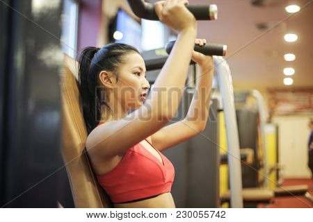Athlete at the gym