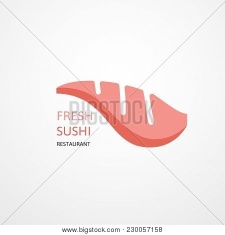 Sushi Food, Food Logo, Japanese Food Logo, Vector Logo Template. Testy Food Restaurant Silhouette. C