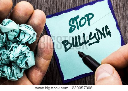 Announcement Text Showing Stop Bullying. Business Concept For Awareness Problem About Violence Abuse