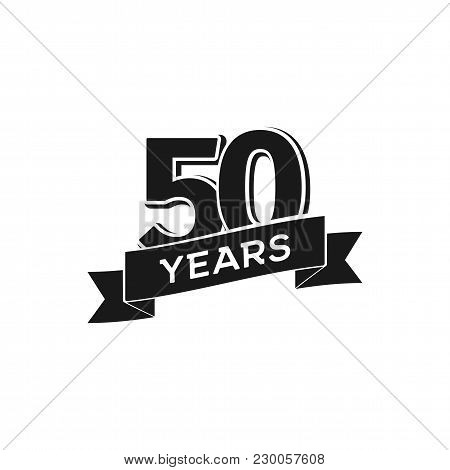 Vector50 Years Anniversary Logotype. Isolated Black Logo 50th Jubilee On White Background