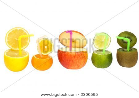 Colorful Abstract Fruit Drink.