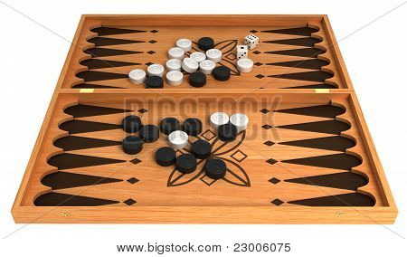 Opportunity: Backgammon With Chips And Dice