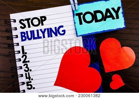 Announcement Text Showing Stop Bullying. Concept Meaning Awareness Problem About Violence Abuse Bull