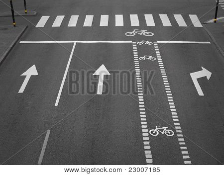 Street With Cycling Path