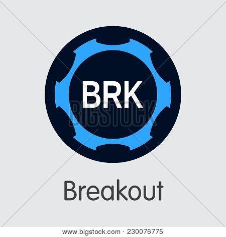 Breakout Blockchain Web Icon. Blockchain, Block Distribution Brk Transaction Icon
