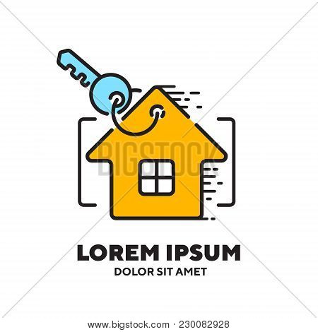 Home Sale Rent Simple Icons Vector Illustration