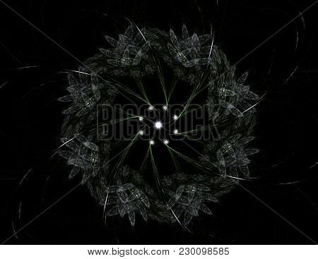 Shiny Colorful Fractal Space Digital Artwork For Creative Graphic Design