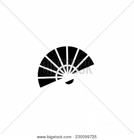 Web Line Icon. Veer, Fan Black On White Background