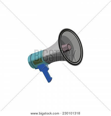 Color Vector Image. Shout, Speaker. Loudspeaker Icon