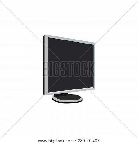 Color Vector Image. Computer, Monitor Display Illustration