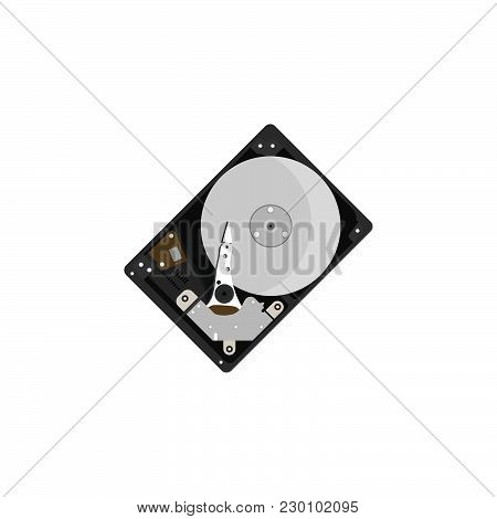 Color Vector Image. Hdd, Hard Disk On A White Background