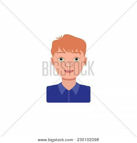 Color Vector Image. Boy, Schoolboy On A White Background