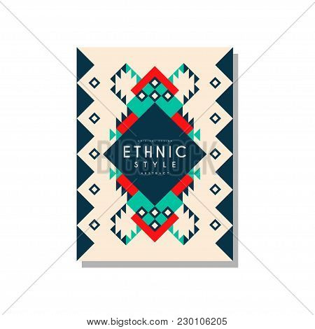 Ethnic Style Abstract Original Design, Ethno Tribal Geometric Ornament, Trendy Pattern Element For B