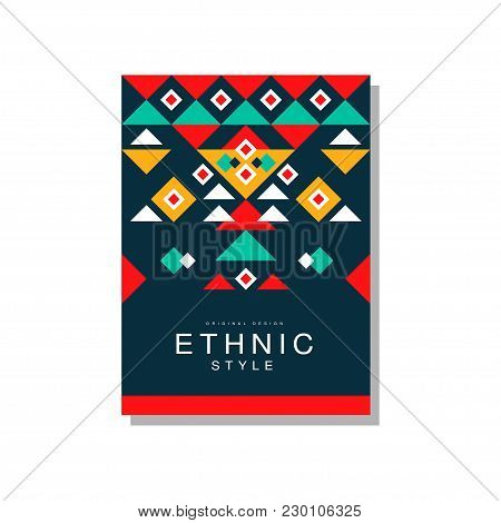 Ethnic Style Original Design, Ethno Tribal Geometric Design Ornament, Trendy Pattern Element For Bus