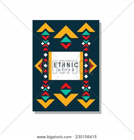 Ethnic Style Original Design, Ethno Tribal Geometric Ornament, Trendy Pattern Element For Business C