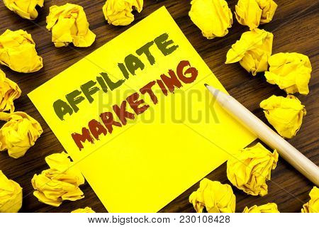 Word, Writing Affiliate Marketing. Business Concept For Internet Online Written On Sticky Note Paper
