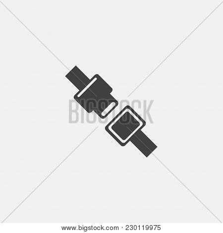 Seat Belt Vector Icon Illustration, Safety Icon Vector