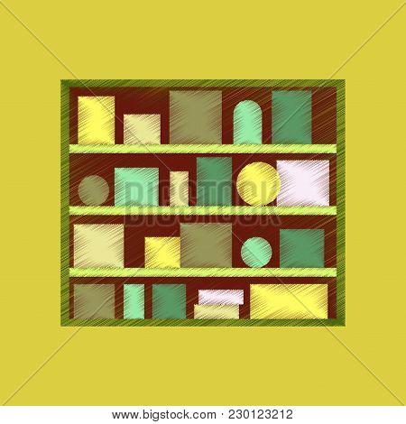 Flat Shading Style Icon Bookshelf Education, Home