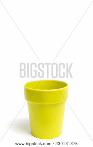 Recycled Materials Biodegradable Tree Pot Isolated On A White Background
