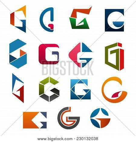 G Letter Icons Template For Corporate Or Business Company And Brand Name Emblem. Vector Letter G Set