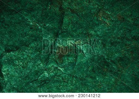 Abstract Green Texture And Background For Design. Vintage Dark Green Background. Rough Green Texture