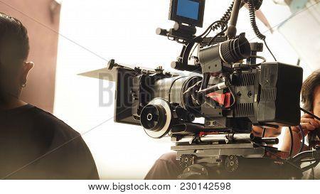 Behind The Scenes Of Video Camera Shooting.